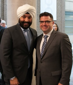 CAWT Director and Senior Scientist Brent Wootton with The Hon. Navdeep Bains.