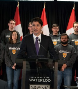 Prime Minister Justin Trudeau announces $12M in funding for the Southern Ontario Water Consortium on Jan. 14.