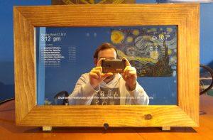 Jackson Hamilton demonstrating the magic mirror