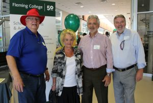 (l-r) Bill Hinan, Judy Hoard, Tim LeClair, and Phil Heard; Class of 1970.