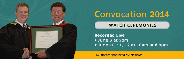 Click here to watch the Convocation 2014 live stream