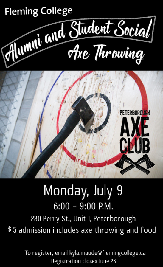 Alumni and Student Social Axe Throwing Event