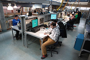 Upper level -  30 work stations well equipped with industry leading technologies