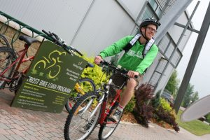 Fleming's Frost Campus has a bike share program.