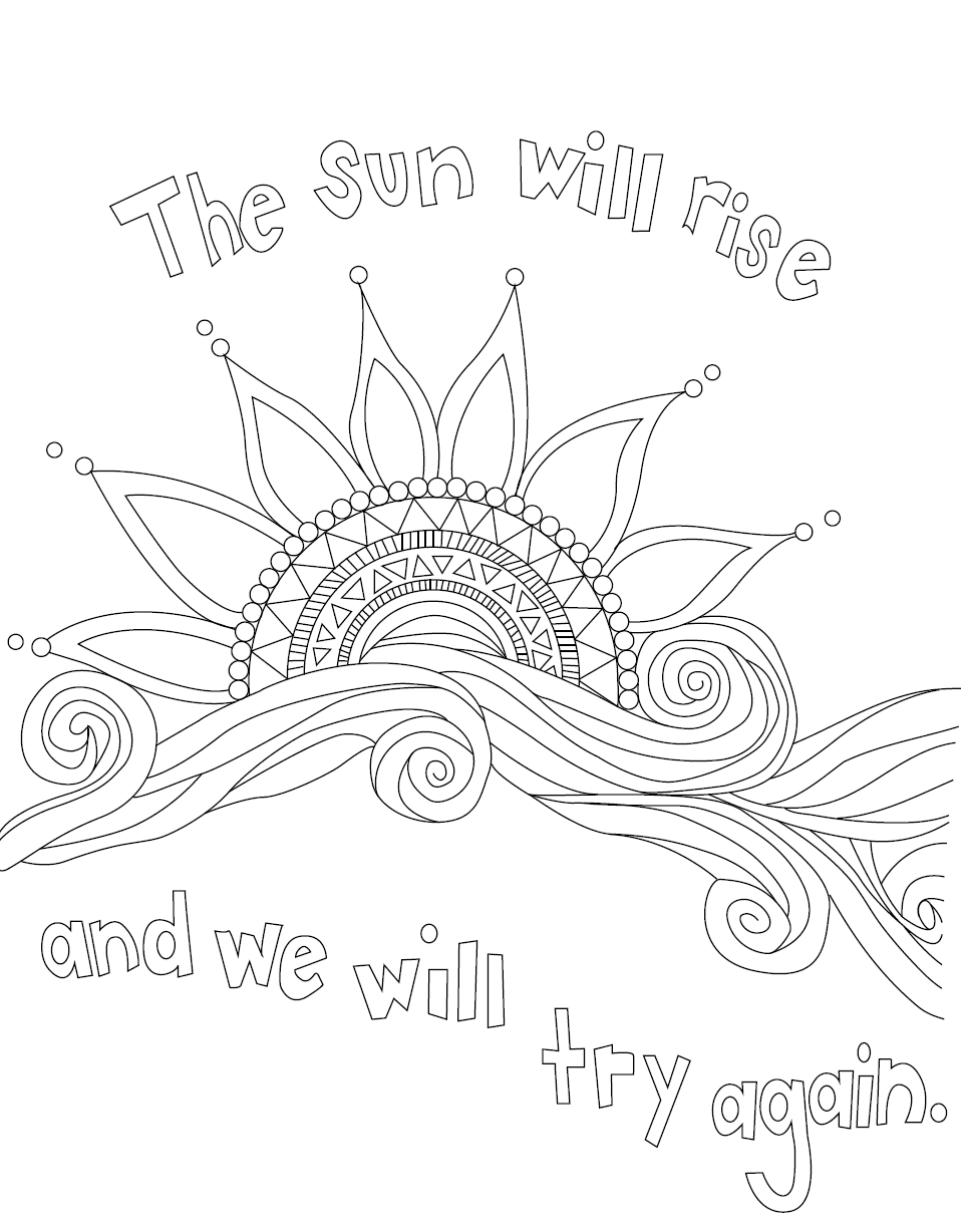 Self Care Coloring Pages