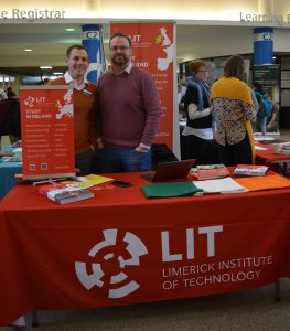 Fleming Pathways Coordinator David Baker with Gerald Gavin of LIT.